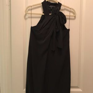 Robert Rodriguez silk black halter dress